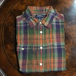 Ralph Lauren Boys Long Sleeve Flannel Shirt
